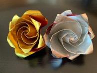 Roses Or et Argent Origami